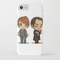 crowley iPhone & iPod Cases featuring Naomi & Crowley by Ravenno