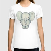 elephant T-shirts featuring Cute Elephant by Mike Koubou