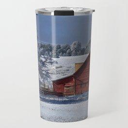 Red On White Travel Mug