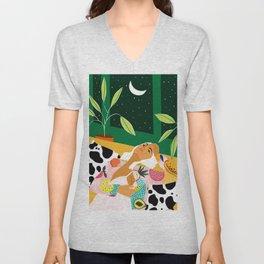 Eclectic Moon Lover Unisex V-Neck