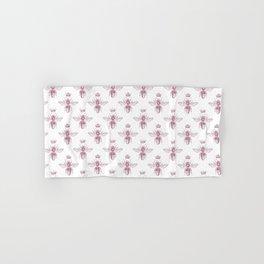 Pink Queen Bee Pattern Hand & Bath Towel