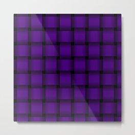 Large Indigo Violet Weave Metal Print