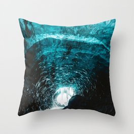 Ice Tunnel (Color) Throw Pillow