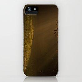 Sunbeams shining through Trees iPhone Case