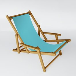 Turquoise Blue Radiance | Solid Colour Sling Chair