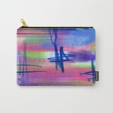 Blue Scribble Background Carry-All Pouch