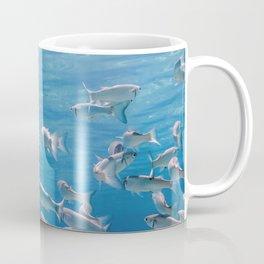 Fish School Underwater. Fishes underwater Coffee Mug