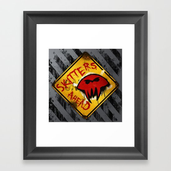 Caution: Skitters Ahead (Falling Skies) Framed Art Print