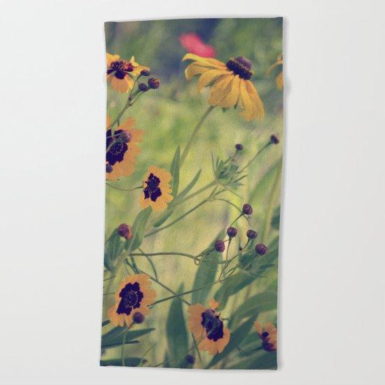 Golden Garden Beach Towel