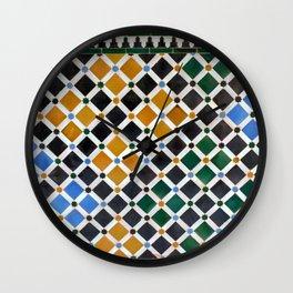 Alhambra Tiles Wall Clock