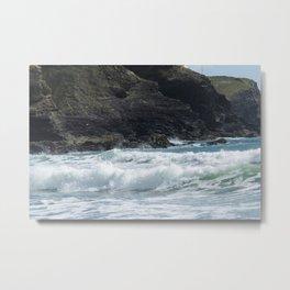 White Surf Metal Print
