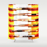 kit king Shower Curtains featuring Eyeglasses Kit by Jeffrey J. Irwin