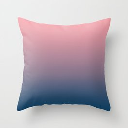 Pink and blue gradient, Ombre. Throw Pillow