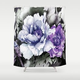 FLOWER PAINTING1 Shower Curtain