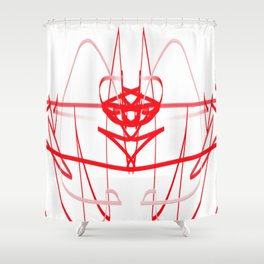 red line of the soul Shower Curtain