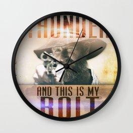 Thunderbolt Movie-I Am The Thunder Version 2 Wall Clock