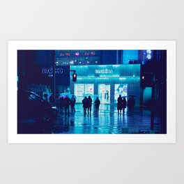 Tokyo Nights / Rain / Liam Wong Art Print