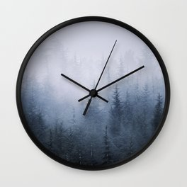 Misty fantasy forest. Wall Clock