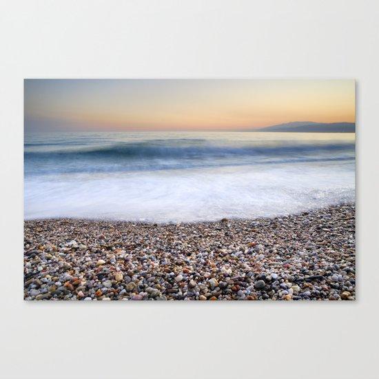 Soft waves at Amoladeras beach Canvas Print