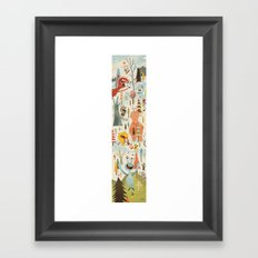 No Slopes Like Snow Slopes Framed Art Print