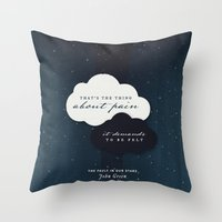 fault in our stars Throw Pillows featuring The Fault in Our Stars by thatfandomshop