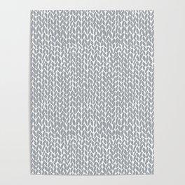 Hand Knit Light Grey Poster