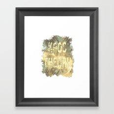 Kaos theory on sandy fractal Framed Art Print