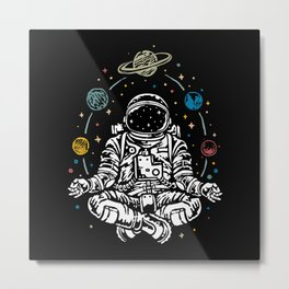 Astronaut Design Metal Print