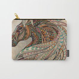 Southwest Horse Beige Grunge Carry-All Pouch