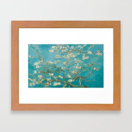 Vincent Van Gogh's Branches of an Almond Tree in Blossom Framed Art Print