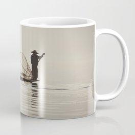 Fisherman at Inle Lake Coffee Mug