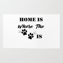 Home Is Where The Dog Is Rug