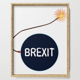 Brexit Black Bomb Serving Tray