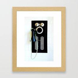 Wall Phone Framed Art Print