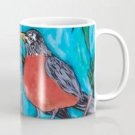Robin Redbreast in the Mountain Ash Coffee Mug
