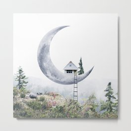 Moon House Metal Print