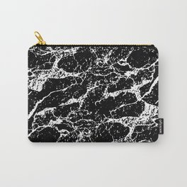 Black and White Abstract Textured Print Carry-All Pouch