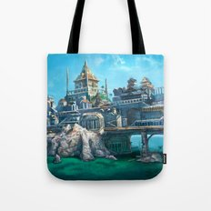 -City on the Big Bridge- Tote Bag