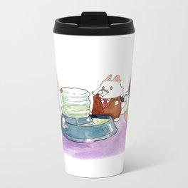 Breaking Cat News - The Water Cooler Metal Travel Mug