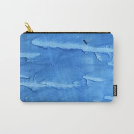 Royal blue colored watercolor Carry-All Pouch