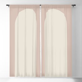 Minimal Arch - Neutral Pink Blackout Curtain