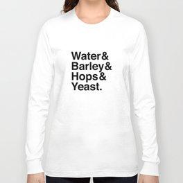 Beer Ingredients Long Sleeve T-shirt