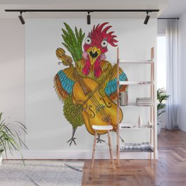 Screeching Rooster Wall Mural