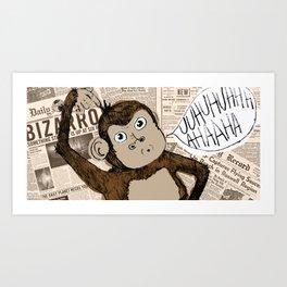 Bizarro Monkey Art Print