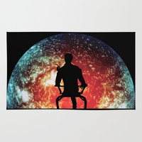 mass effect Area & Throw Rugs featuring Illusive man ( Mass Effect ) by TxzDesign