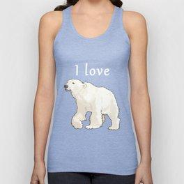 I Love Polar Bears Arctic Conservation Unisex Tank Top