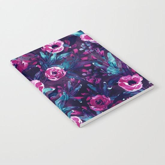 DARK BLUE FLORAL Notebook