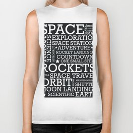 Space Text inspirational poster. Biker Tank