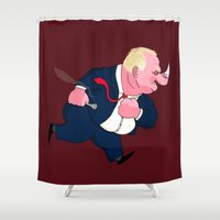 ford Shower Curtains featuring Rob Ford by Chris Piascik