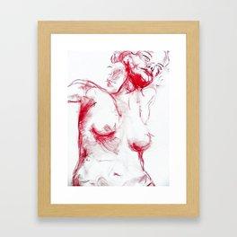 A night of love Framed Art Print
